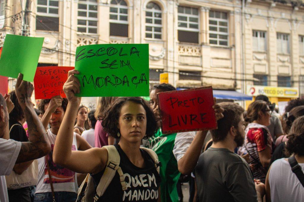 Manifestação contra censura nas escolas. Foto: Mídia Ninja