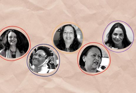 Foto de destaque contém miniaturas de perfil de Analise da Silva, Denise Carreira, Claudia Bandeira, Gilvânia Nascimento, Fátima Bezerra.